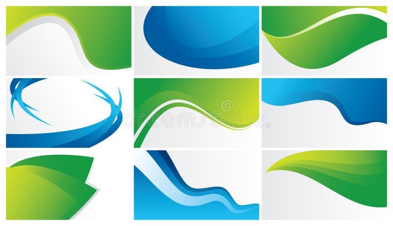 fondos abstractos verdes y azules stock de ilustración