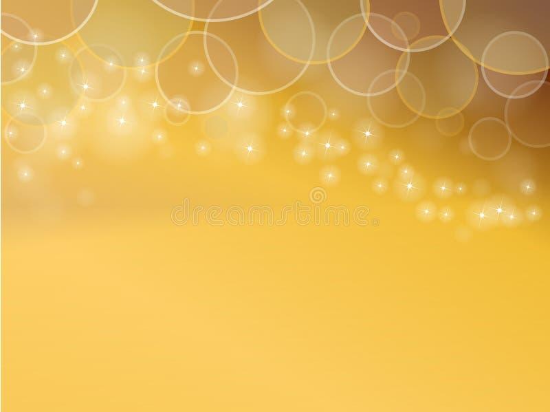 Fondos amarillentos planeta y estrella del extracto del color libre illustration