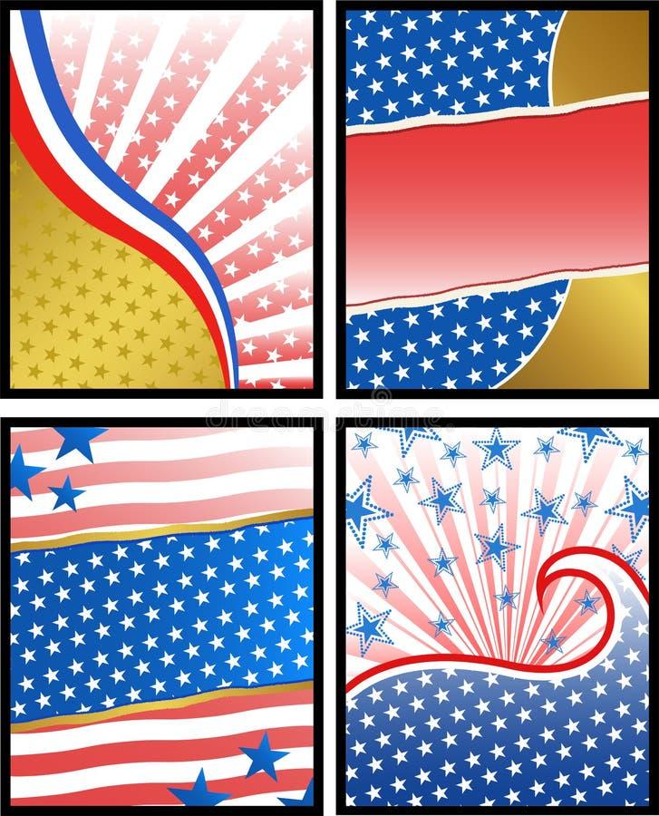 Fondos americanos stock de ilustración