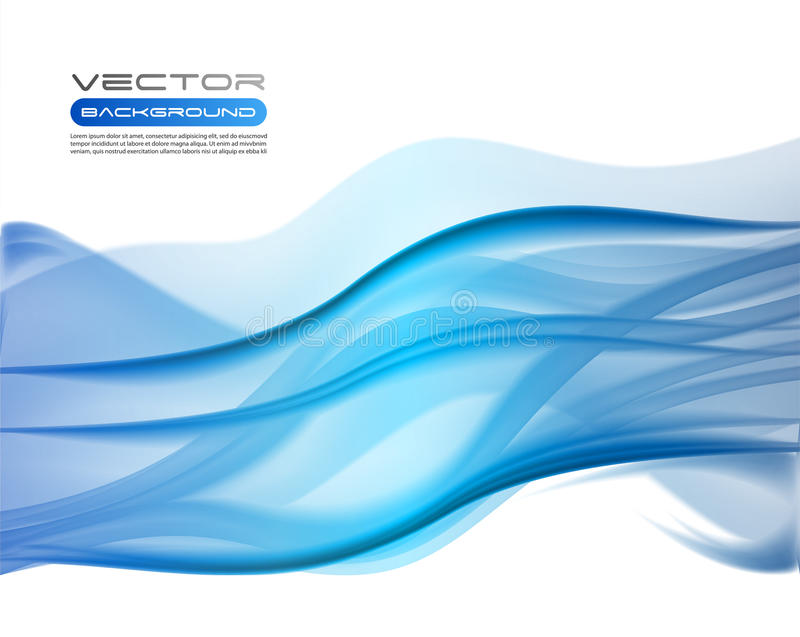 Fondos azules abstractos del asunto stock de ilustración