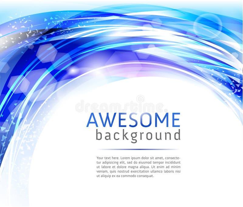 Fondos azules y blancos abstractos ilustración del vector