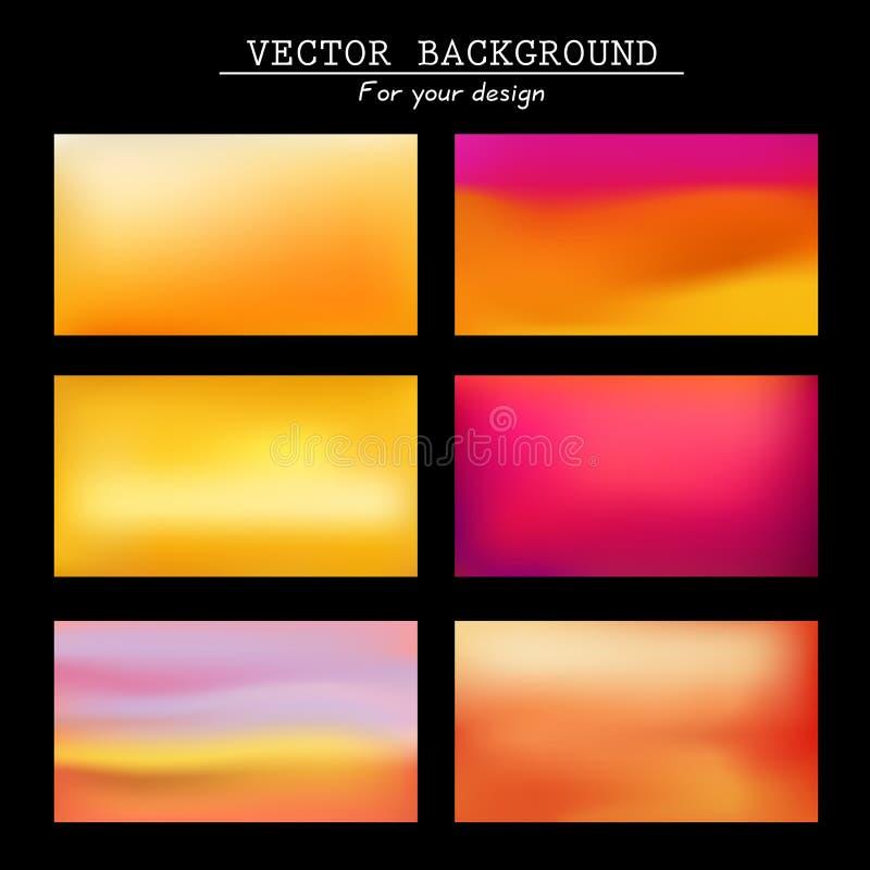 Fondos borrosos extracto del vector ilustración del vector