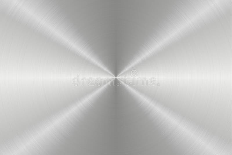 Fondos circulares de la textura de las superficies de metal, textura 9 libre illustration