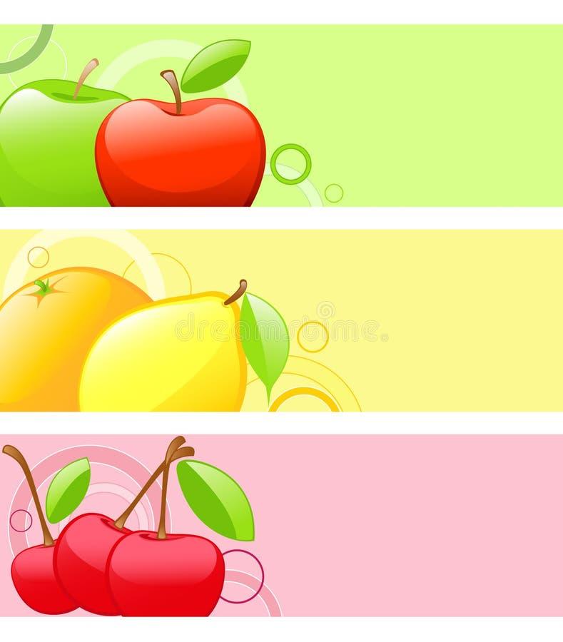 Fondos coloreados de la fruta ilustración del vector