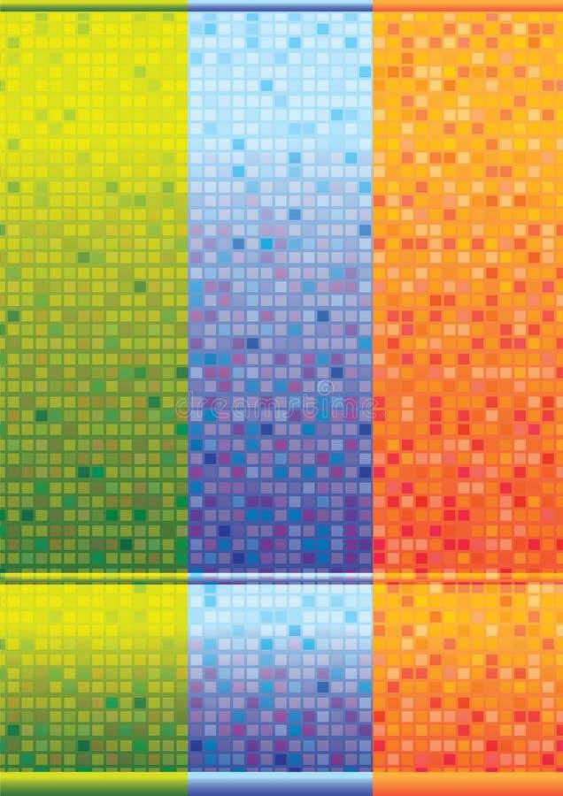 Fondos coloridos abstractos del azulejo libre illustration