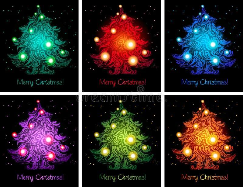 Fondos coloridos brillantes de la Navidad libre illustration