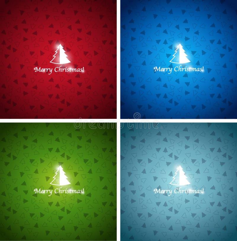Fondos coloridos de la Navidad ilustración del vector