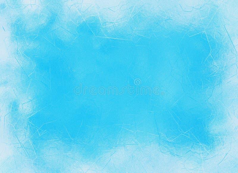 Fondos congelados del marco de los azules claros de la ventana ilustración del vector