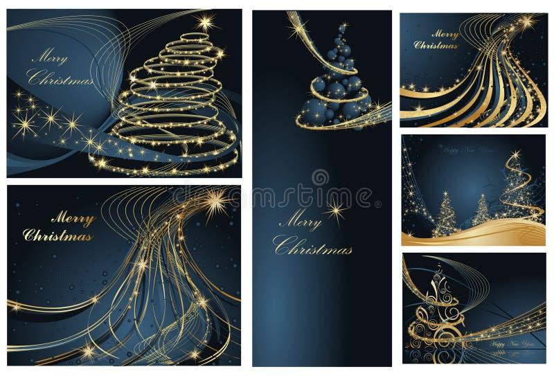 Fondos de la Feliz Navidad y de la Feliz Año Nuevo stock de ilustración