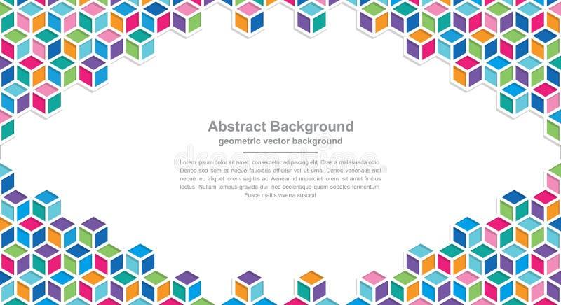 Fondos de la geometría con combinaciones coloridas modernas con los espacios en blanco en el centro para su texto Fondo del vecto ilustración del vector