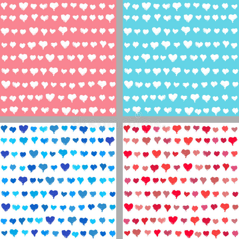 Fondos de la tarjeta del día de San Valentín de corazones pintados libre illustration