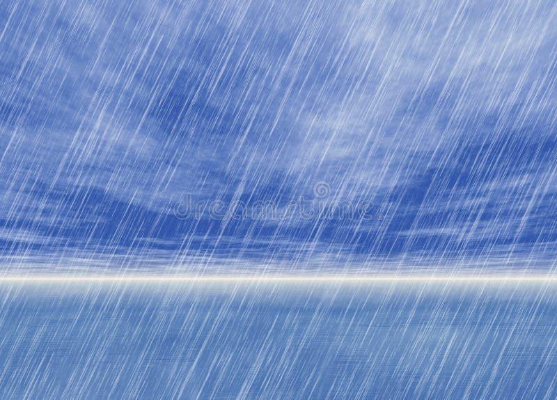 Fondos de la tormenta de la lluvia en tiempo nublado libre illustration