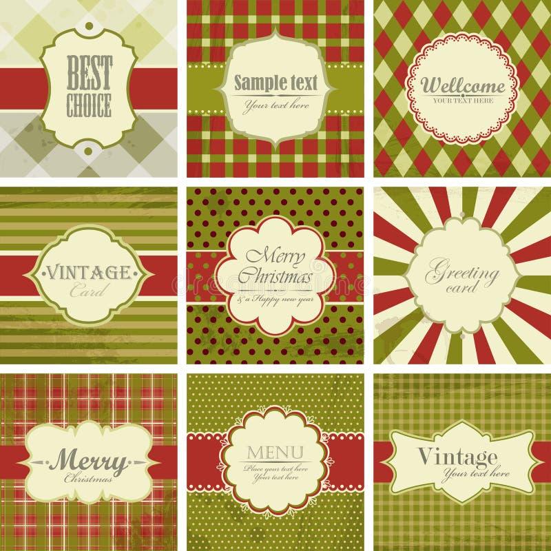 Fondos de la vendimia de la Navidad. fotos de archivo libres de regalías