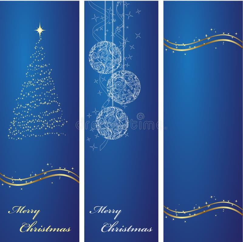 Fondos de las banderas de la Navidad stock de ilustración