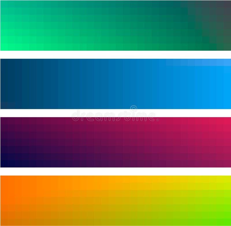 Fondos de las banderas del color del gradiente ilustración del vector