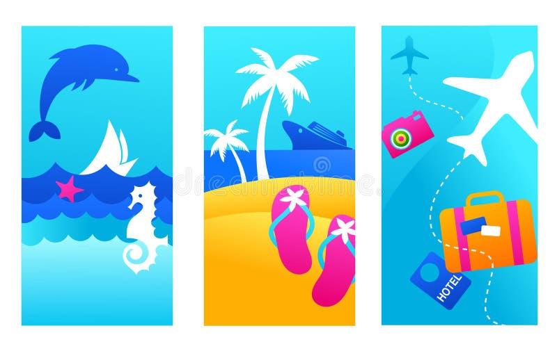 Fondos de las vacaciones de verano stock de ilustración