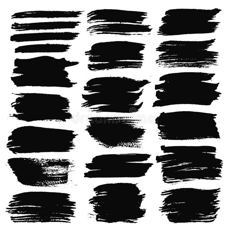 Fondos de los movimientos del cepillo del Grunge fijados libre illustration