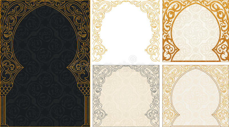 Fondos de los saludos de Eid al Adha fijados libre illustration