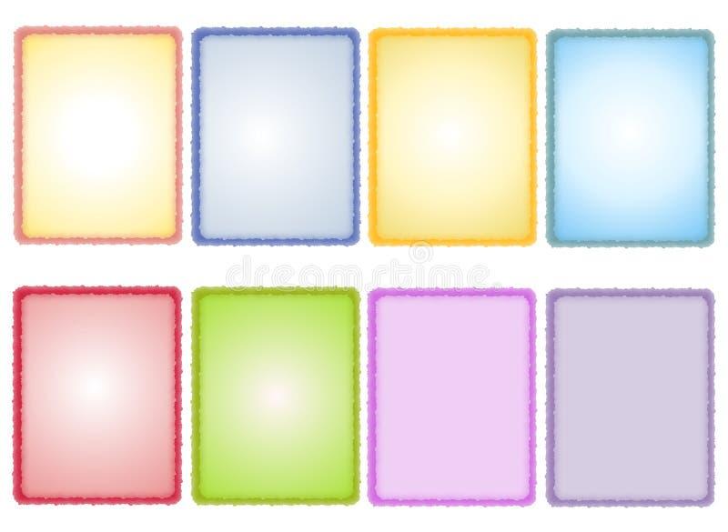 Fondos de papel Textured resorte clasificados ilustración del vector