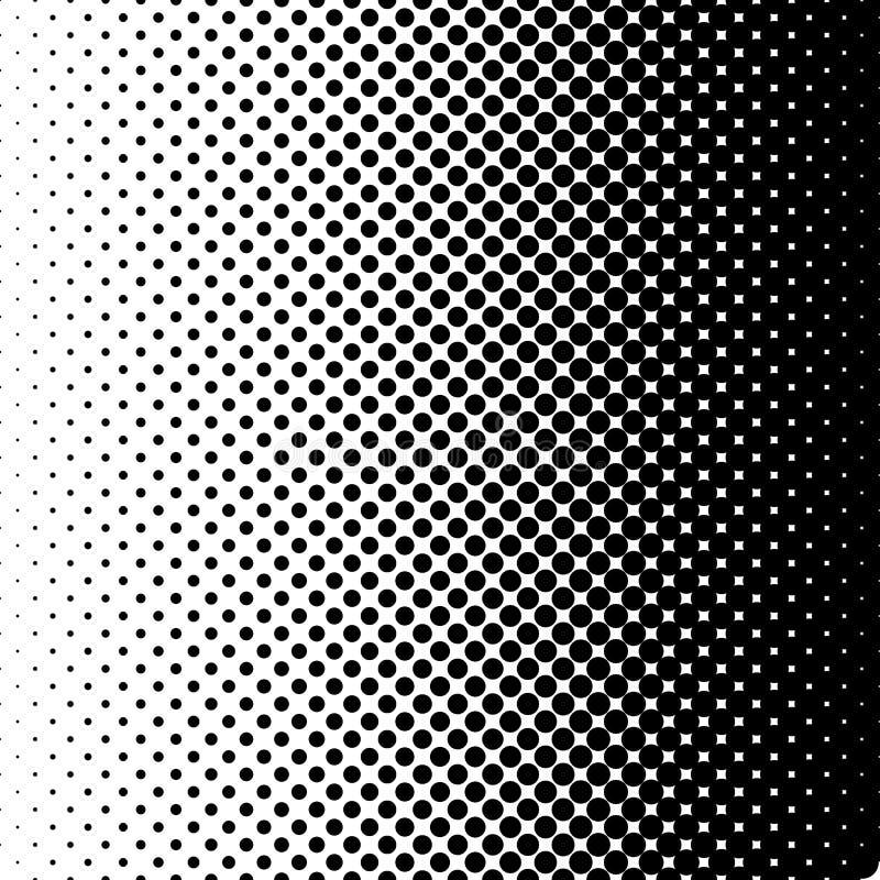 Fondos de semitono de los puntos de la pendiente horizontal Puntos negros en el fondo blanco Fondo de los puntos de la pendiente  libre illustration
