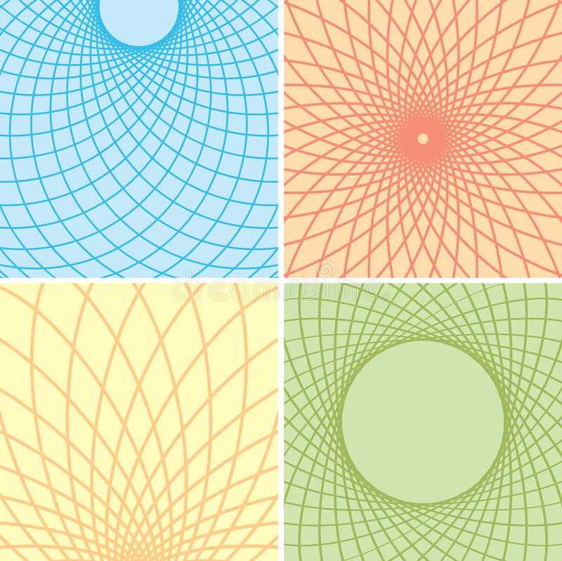 Fondos del color con las rejillas curvadas - sistema libre illustration