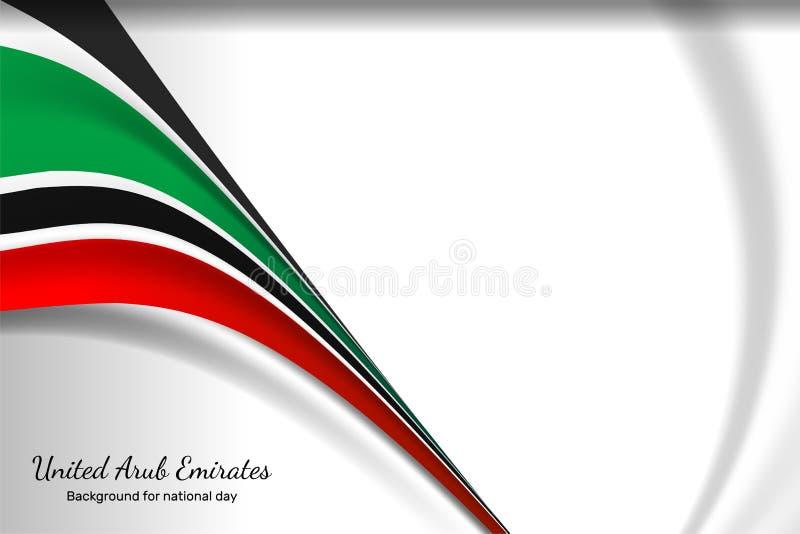 Fondos del color de la bandera de United Arab Emirates stock de ilustración