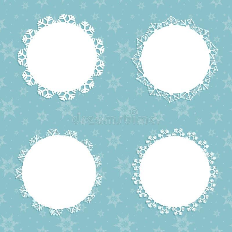 Fondos del copo de nieve de la Navidad libre illustration
