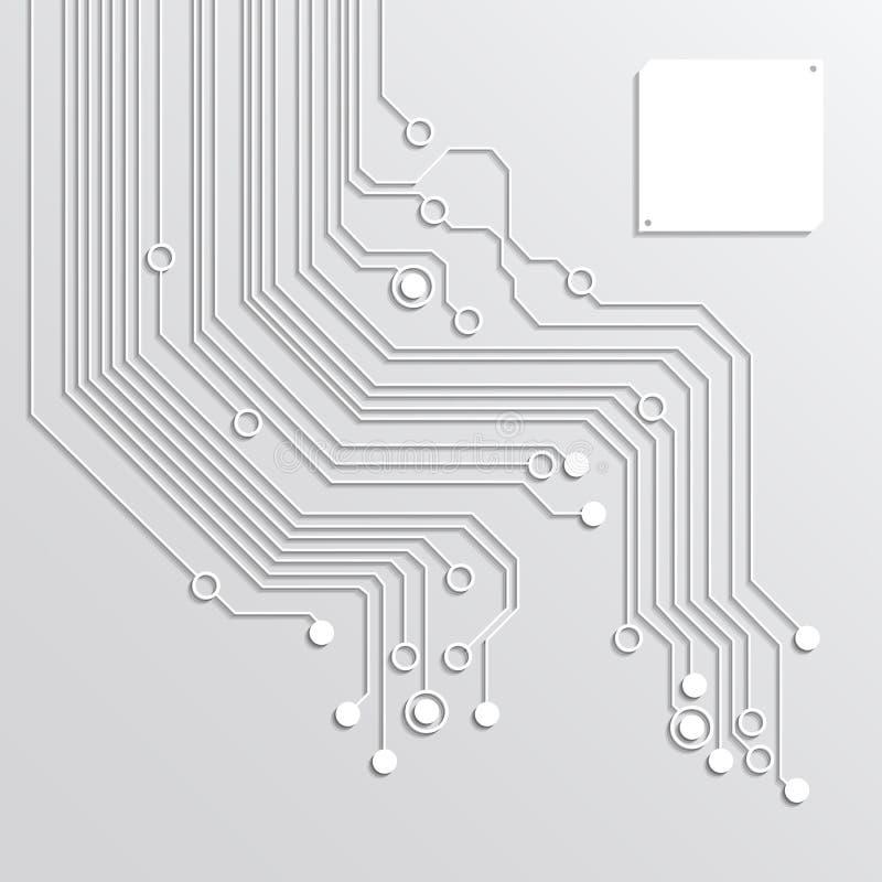 fondos del extracto de la placa de circuito 3d libre illustration