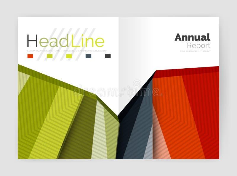 Fondos del extracto del informe anual del negocio ilustración del vector
