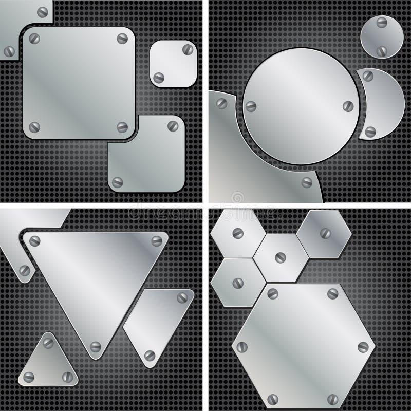 Fondos del metal ilustración del vector