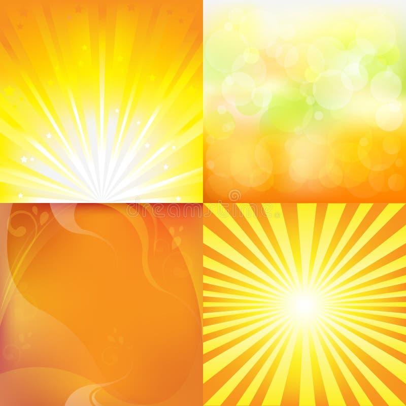 Fondos del resplandor solar stock de ilustración