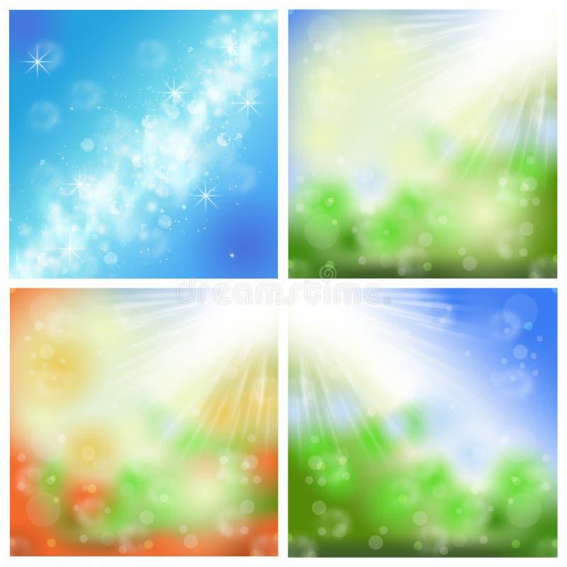 Fondos del verano ilustración del vector