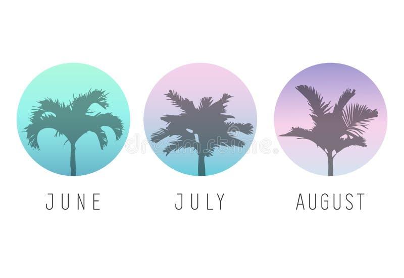 Fondos del verano con las palmeras Ilustración del vector Verano libre illustration