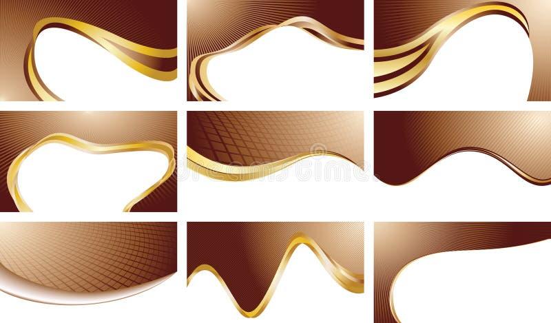 Fondos determinados del chocolate del vector stock de ilustración
