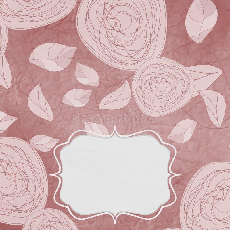 Fondos florales con las rosas de la vendimia ilustración del vector