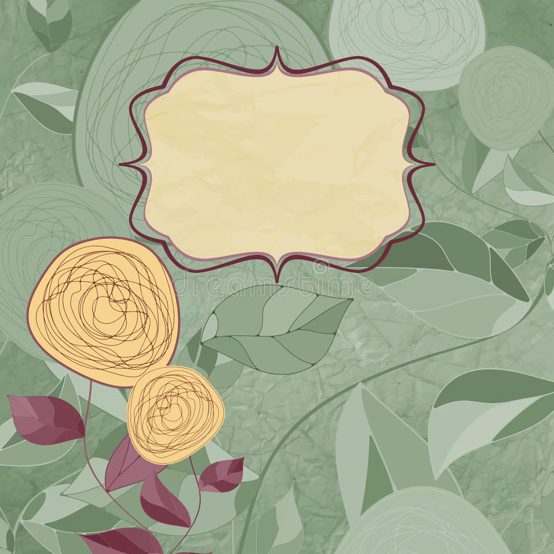 Fondos florales con las rosas de la vendimia.   stock de ilustración