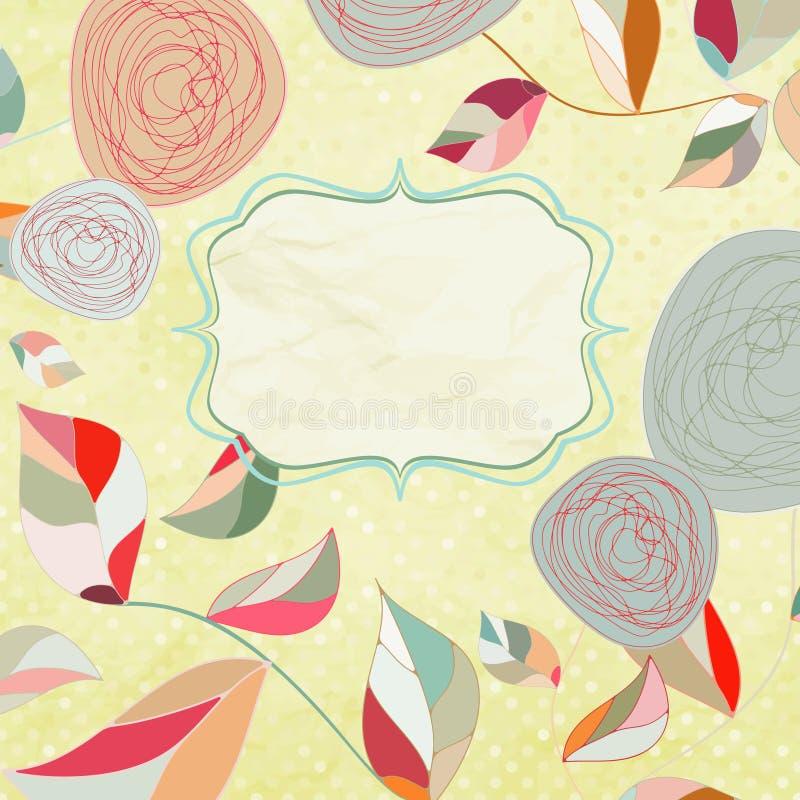 Fondos florales con las rosas de la vendimia. ilustración del vector