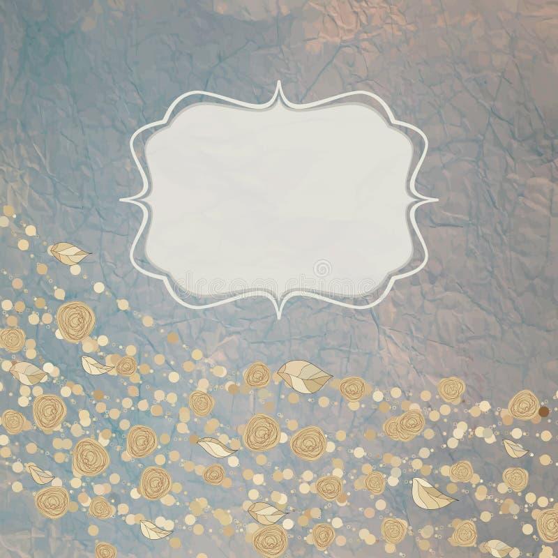 Fondos florales con las rosas de la vendimia. EPS 8 stock de ilustración