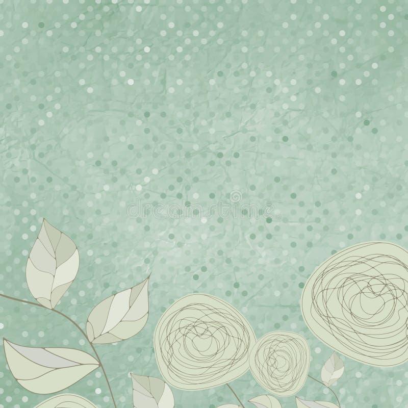 Fondos florales con las rosas de la vendimia. EPS 8 ilustración del vector