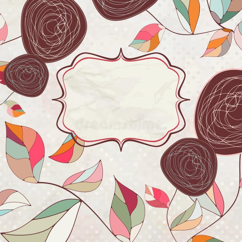 Fondos florales con las rosas de la vendimia. EPS 8 libre illustration