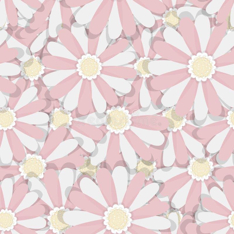 Fondos florales Modelos inconsútiles para la materia textil y los papeles pintados stock de ilustración