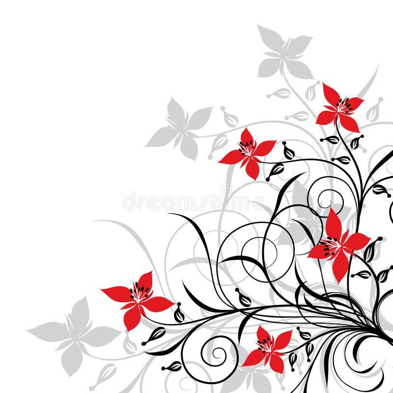 Fondos florales, vector ilustración del vector. Ilustración de fondo ...