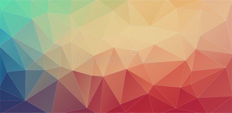Fondos futuristas del polígono ilustración del vector