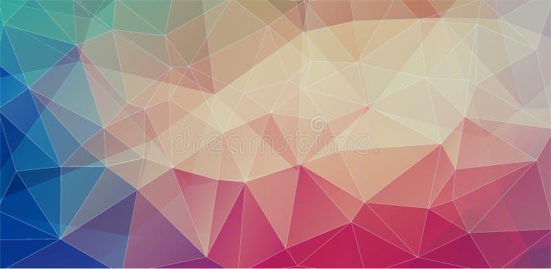 Fondos futuristas planos del polígono ilustración del vector