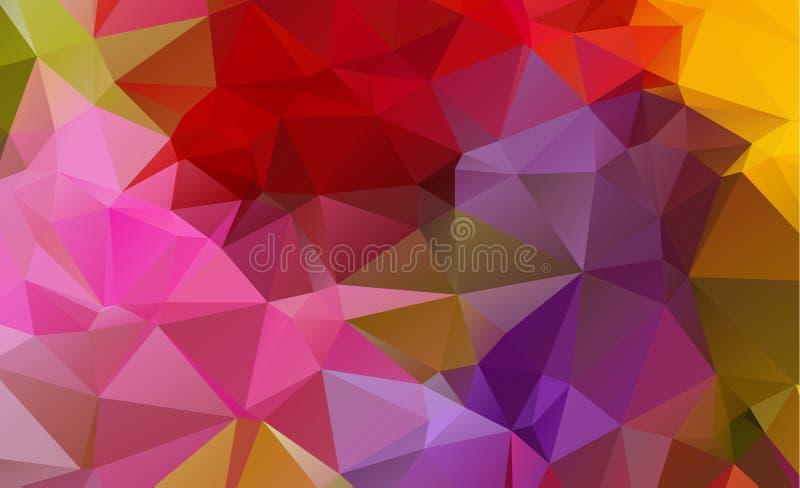 Fondos geométricos abstractos a todo color stock de ilustración