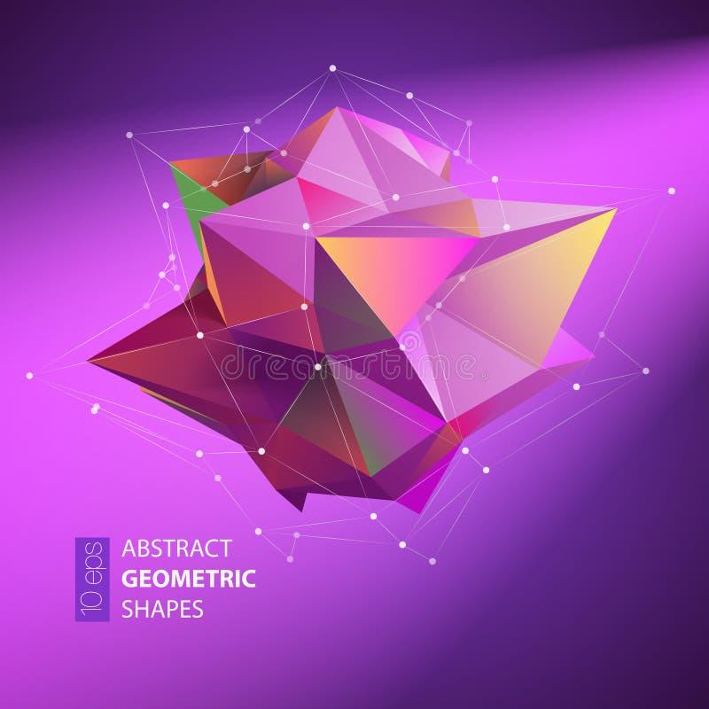 Fondos geométricos abstractos a todo color Ilustración del vector stock de ilustración