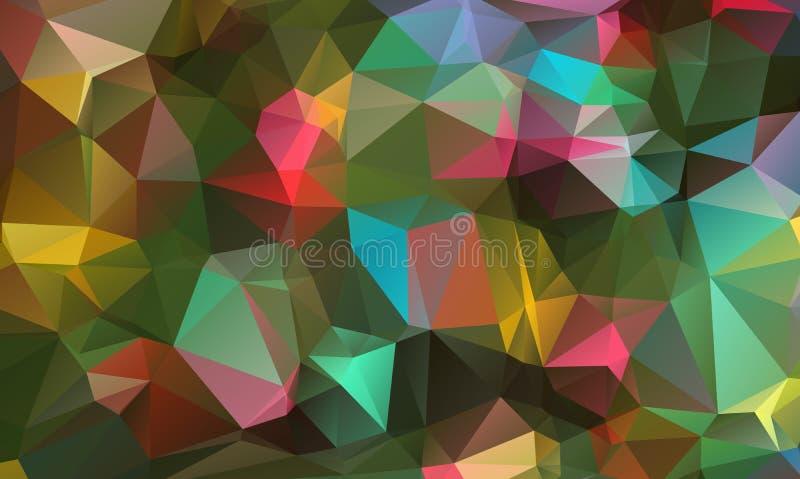 Fondos geométricos coloridos abstractos Fondos poligonales del vector ilustración del vector