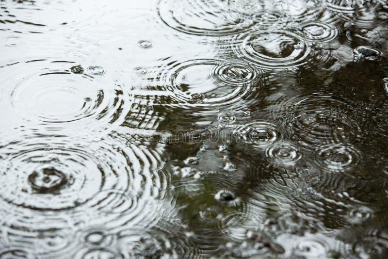 Fondos hermosos con descensos descendentes del agua foto de archivo