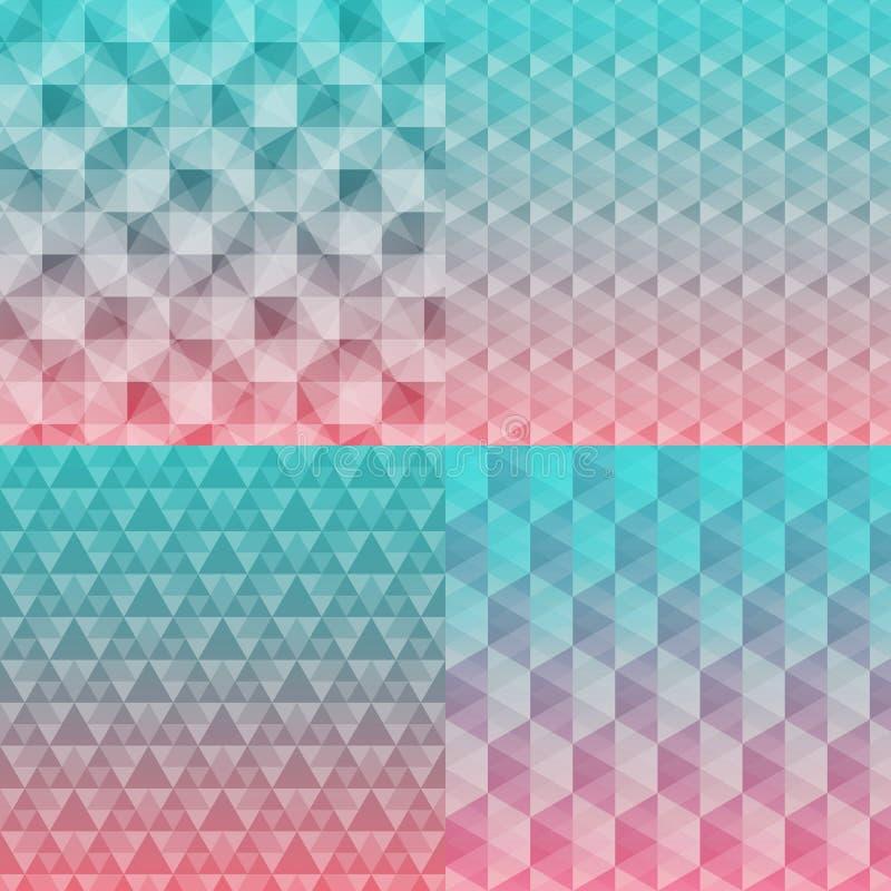 Fondos inconsútiles abstractos del modelo ilustración del vector