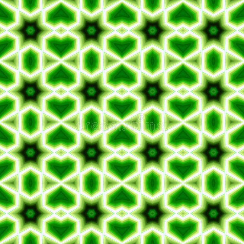 Fondos inconsútiles abstractos verdes del modelo stock de ilustración
